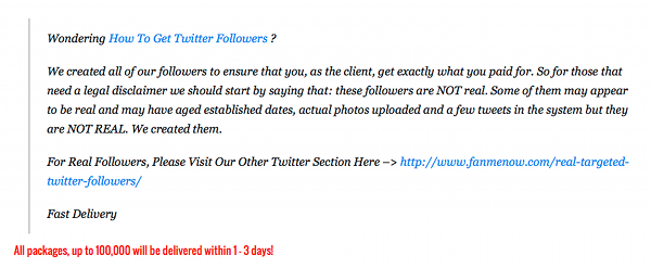 The user experience of buying Twitter followers  « Sawdust