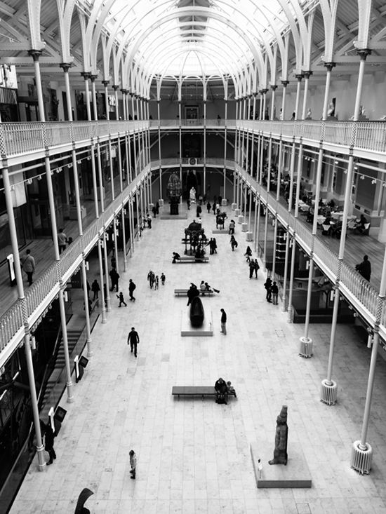 The National Museum of Scotland. Where exhibitions are made.