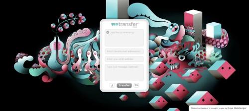 Busking on WeTransfer. A new model for online advertising?