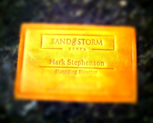 Sandstorm's elegant business cards. How much versatility, utility and interactivity can you pack into a piece of scrap leather?.