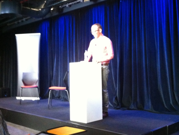 Cory Doctorow at Google Firestarters #5 – It's the way he tells them.