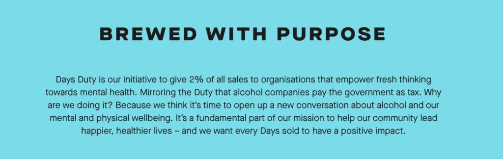 Days Duty - Brand purpose